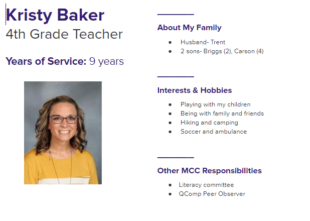 Staff Profile of the Week