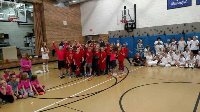 Congratulations to the 4th grade students for winning this year's class wars.