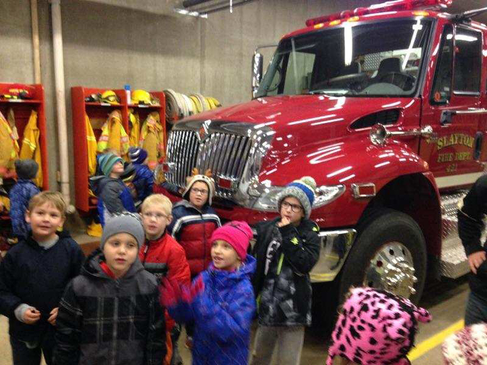 1st Grade visited the Slayton Fire Hall today.