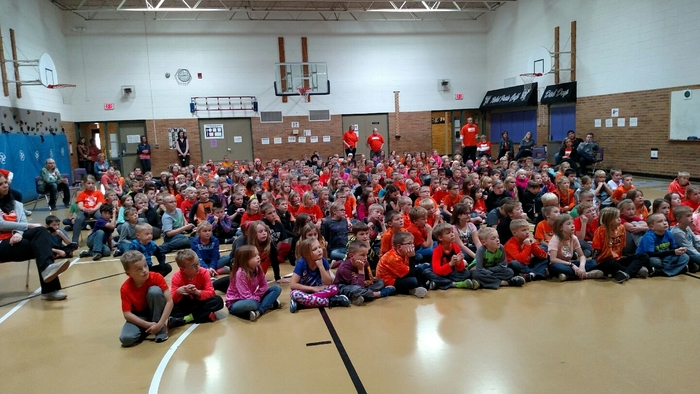 West Elementary students hosting Unity Day assembly with parent panel.