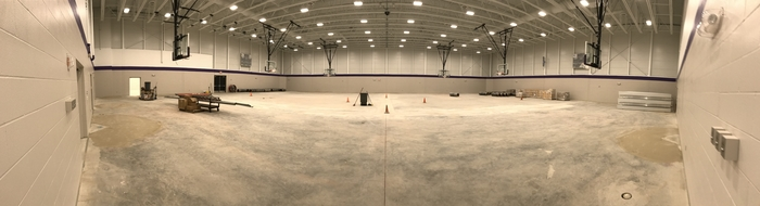 New gym on Dec. 2