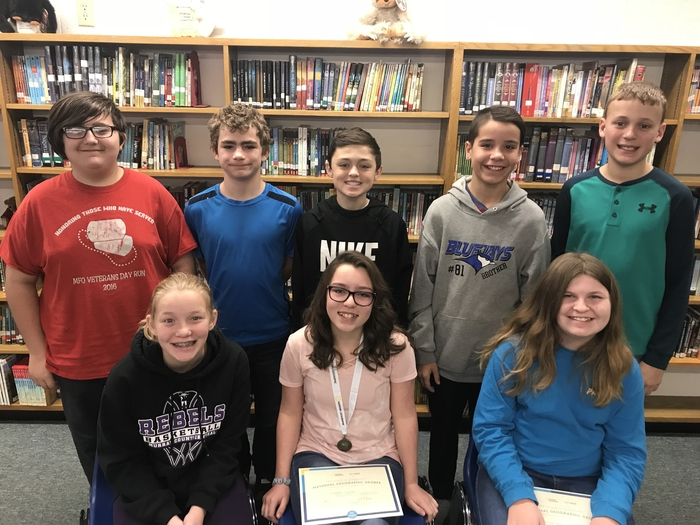 6th grade group GeoBee Finalists