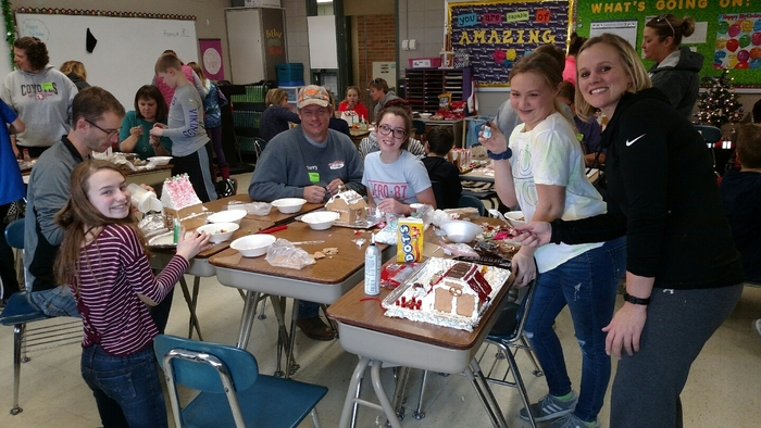 6th grade Gingerbread Houses.
