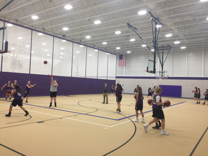 Girls basketball practice!