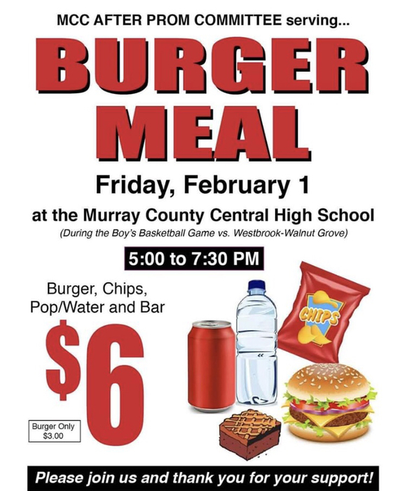 Burger Feed Friday night - come on out and support the Rebel Boys Basketball Team!