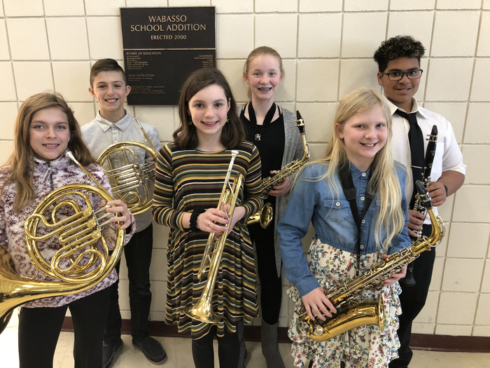 Honor Band Participants- Sophia, Lucas, Courtney, Taylor, Rachel & Gabe
