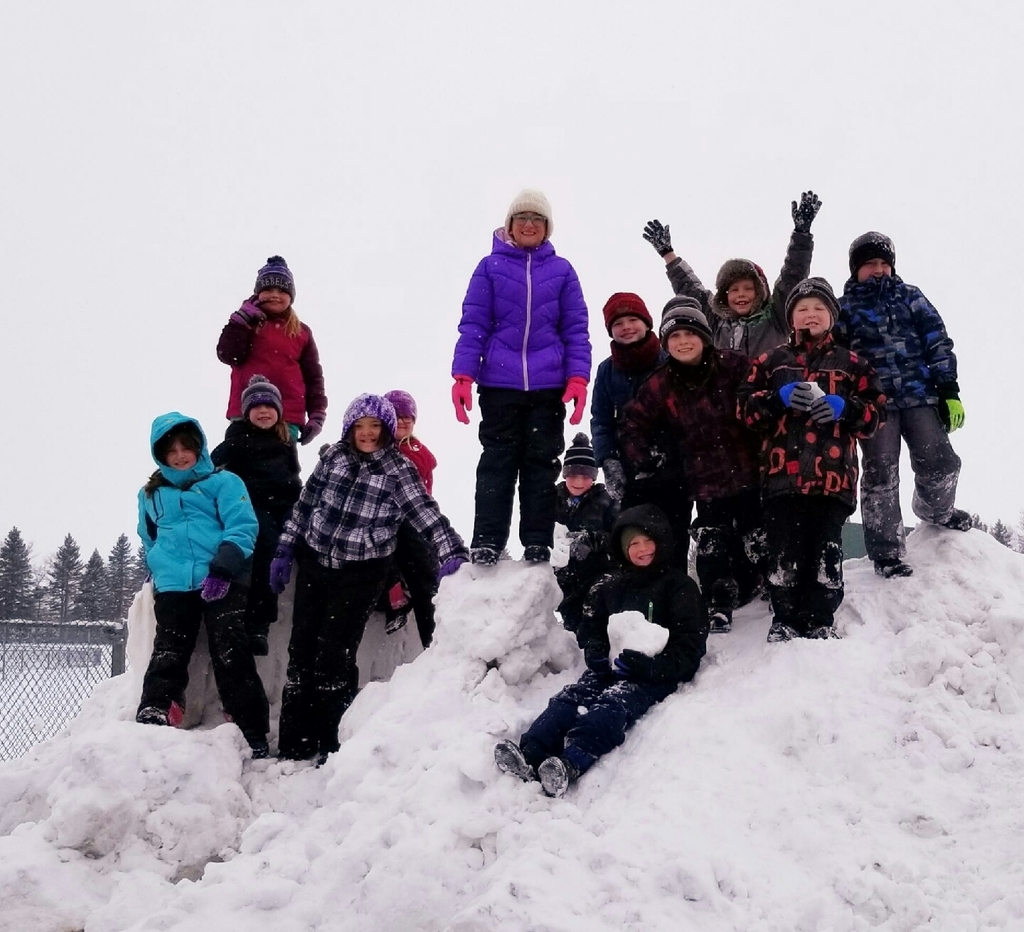 West Elementary students enjoying the first snow.