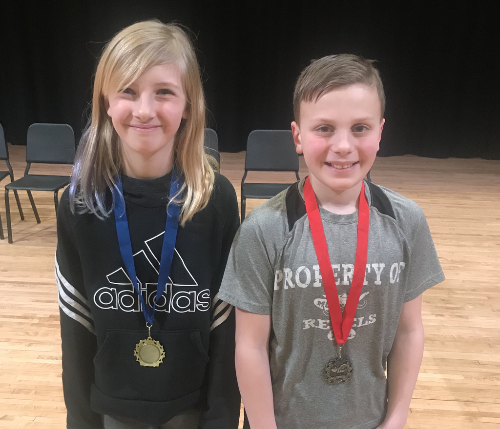 4th Grade - Holland (1st Place) & Evan (2nd Place)