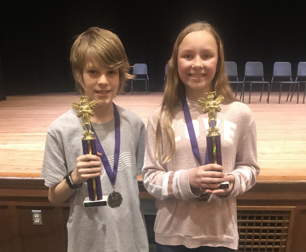 5th/6th Grade Winners - Remy (1st Place) & Laura (2nd Place)