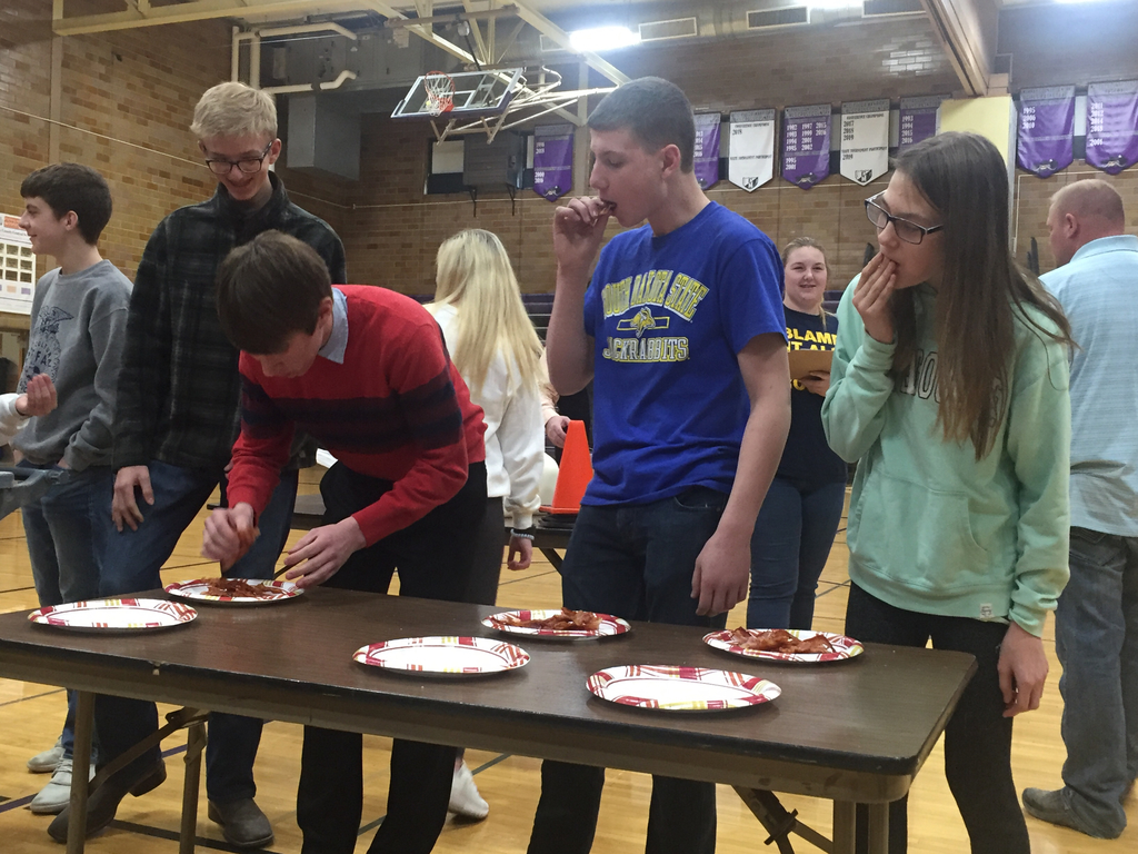 Bacon Eating Contest