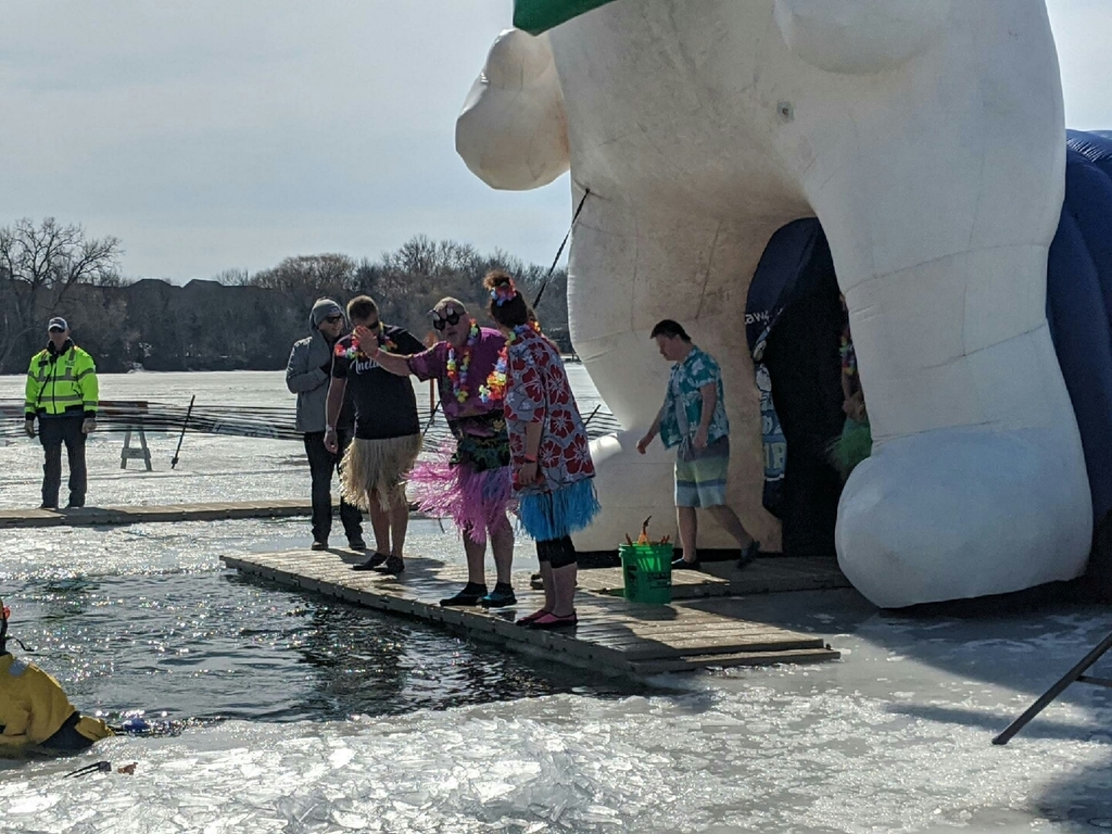 Mr. Burlingame plunged to raise money for Special Olympics.